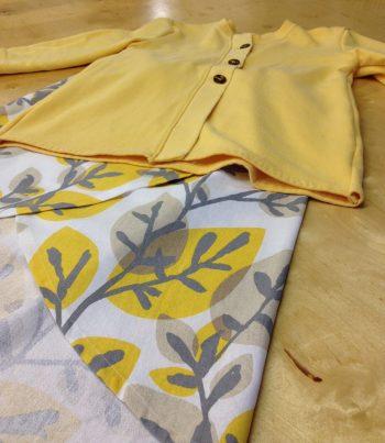 Tulip Skirt Leaf Pattern