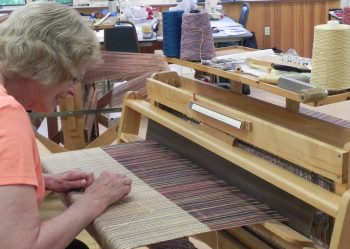 Weaving Fabric for One of a Kind Jacket Class