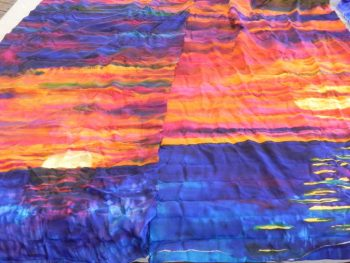 Island Sunset Painted Silk