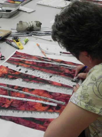 Landscape Painting with Fabric3