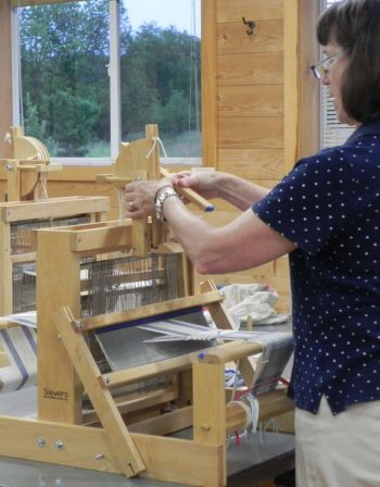 Table Loom Weaving1 2015