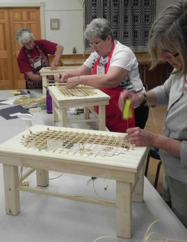 Chair Caning First Project at Sievers