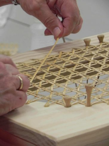 Chair Caning Footstool at Sievers