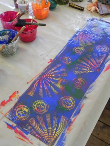 Surface Design on Paper Paint