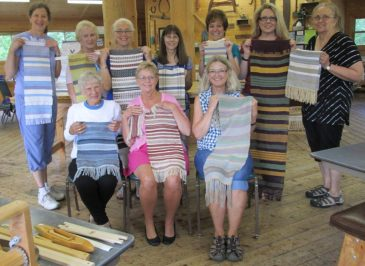 Table Loom Weaving Class Finished