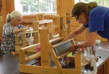 Table Loom Weaving Threading