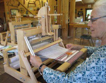 Table Loom Weaving at Sievers