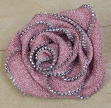 Zipper Rose Pin