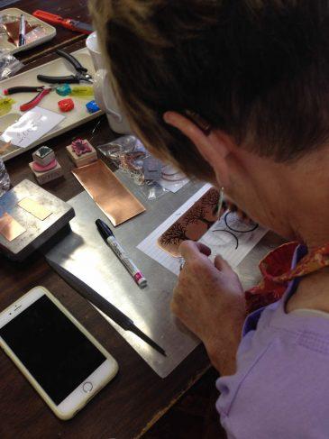 Metalwork Jewelry Class Etching