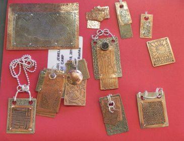Metalwork Jewelry made in class