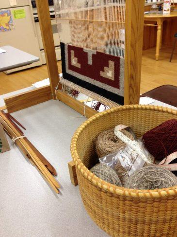 Navajo Loom and Wool