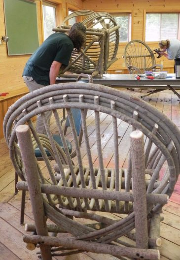 Finished-bent-willow-chair