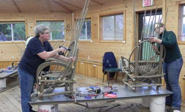 Making-bent-willow-chairs