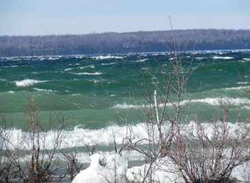 Waves along Green Bay Road