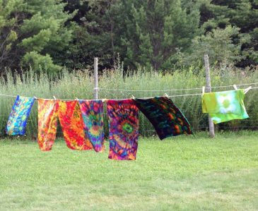 Dyes on the line