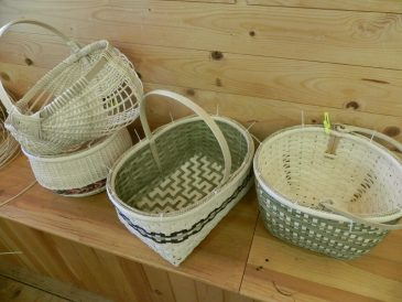 Splint Woven Baskets made in class