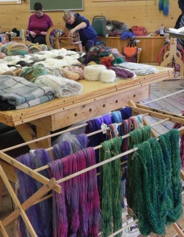 Beginning Spinning and Rainbow Dyeing