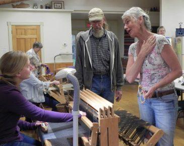 Weaving Class visit