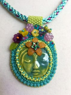 Bead-Embroidery-Green-Face-