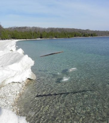 Schoolhouse Beach Ice May 1