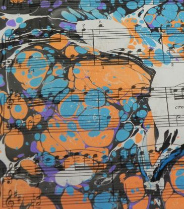 Marbling paper music