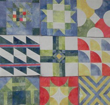 Open Quilt Studio D Kallner Fabric Quilt
