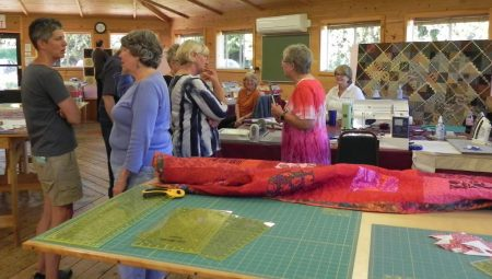 Book class visit to quilters
