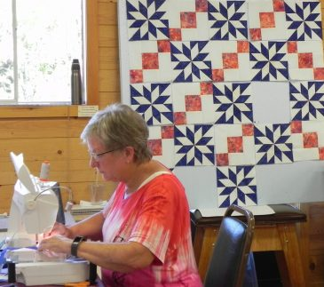 Drafting in Quilt Design class