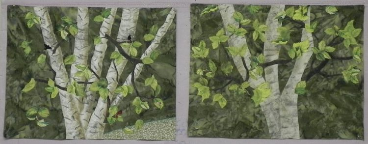 Landscape Painting with Fabric4