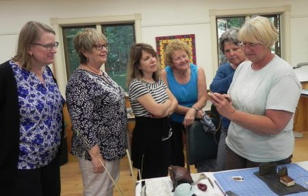 Quilters visit book class