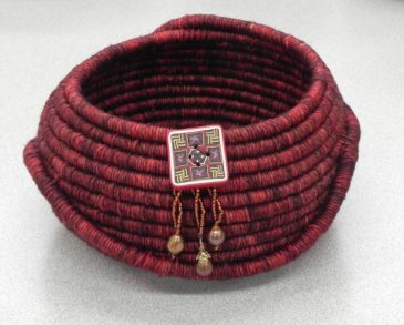 Finished Coiled Basket1