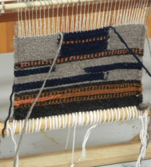 Navajo Weaving in progress