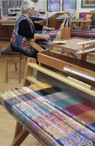 Rag Rug Weaving5